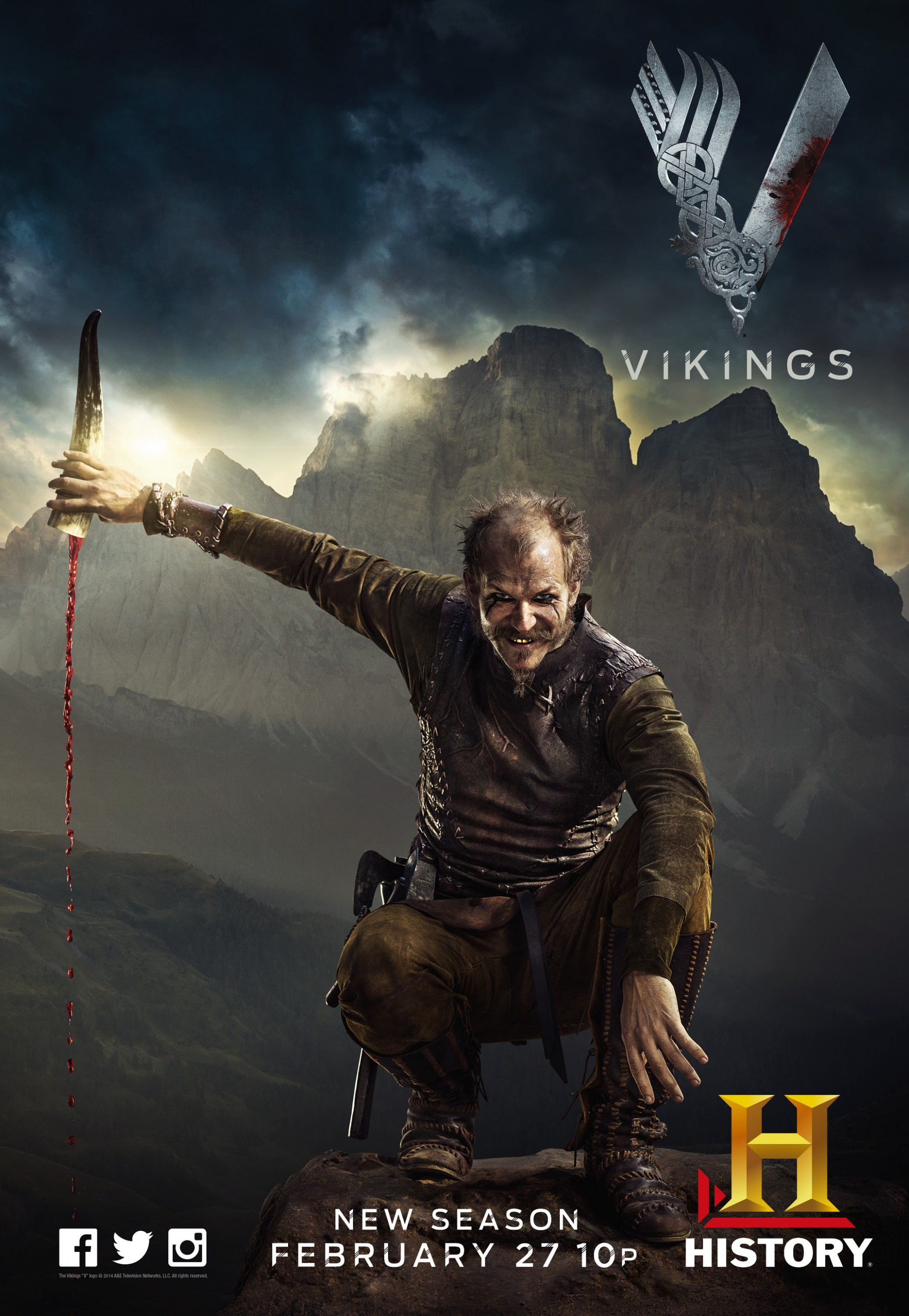 Exceptionnel Photo Vikings Posters saison 2 - Series Addict CE94