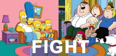 Battle SeriesAddict - Comédie : The SImpsons VS Family Guy