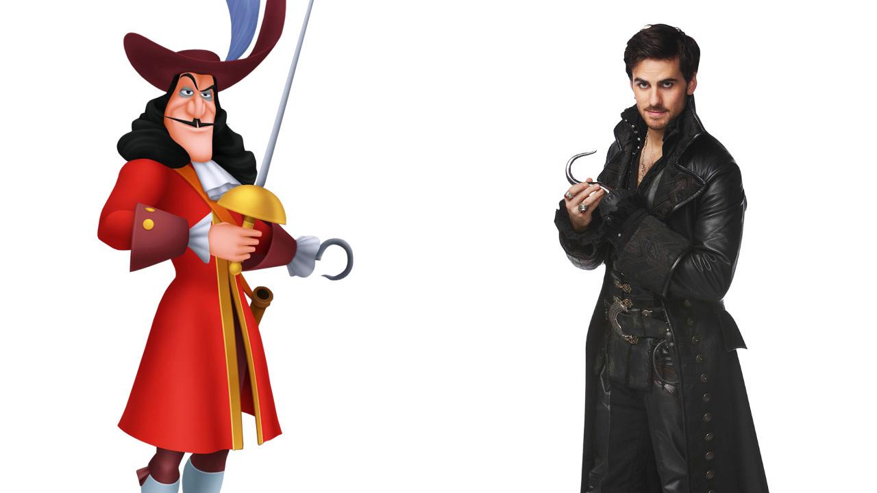 L 39 oeil du seriesaddict disney dans once upon a time - Peter pan et capitaine crochet ...